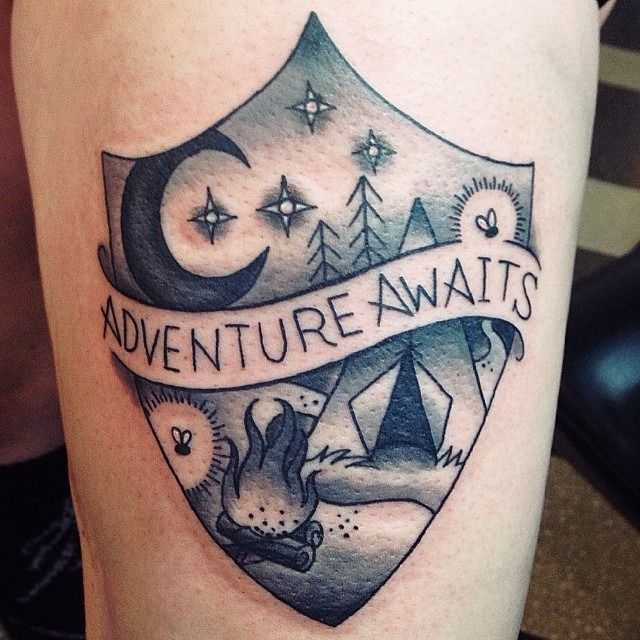 Julie Bauschardt Tattoos Camping Tattoo Clever Tattoos