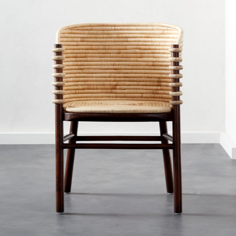 Shop Tejido Dining Chair Natural Rattan Weaves A Comforting