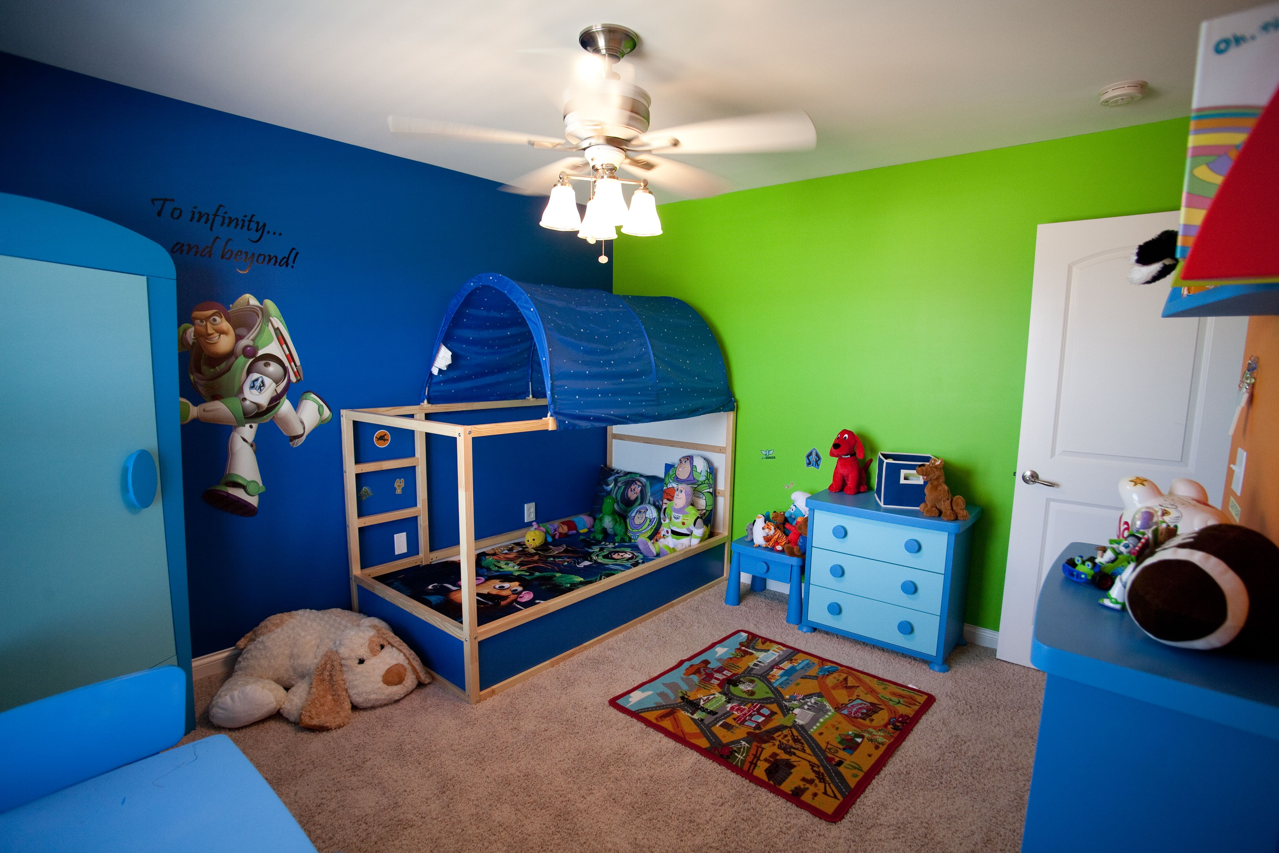Toy story toddler bedroom boy 39 s bedroom ideas Colors for toddler boy room