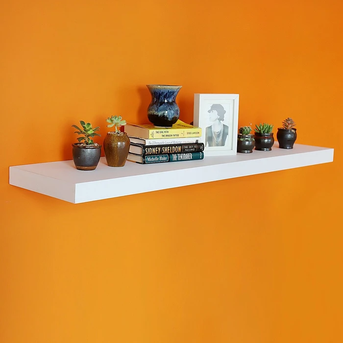 12 Inch Deep Grande Floating Wall Shelf 47 24 L X 11 81 D X 2 T Floating Wall Shelves Floating Shelves Wall Shelf Display