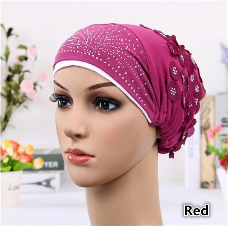482b62411400c Women s Casual Muslim Stretch Turban Hat Chemo Cap Head Scarf Hijab ...