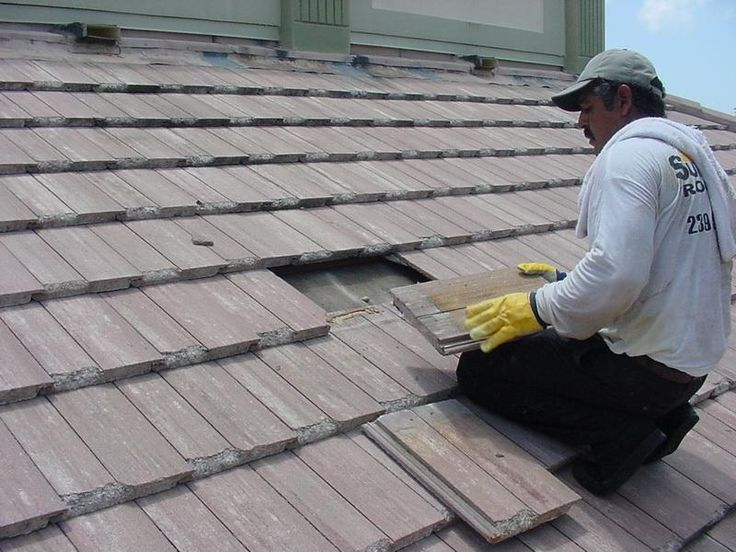 Inspect Roofing Material For Cracks And Loose Or Missing Shingles Repair As Necessary If You Have Access To Roof Leak Repair Roof Repair Concrete Roof Tiles