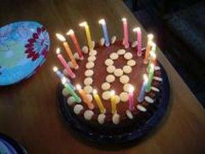 birthday cake 18 candles