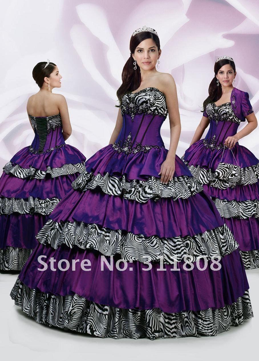 imagenes de vestidos de xv años de cebra Un: el vestido de novia no ...