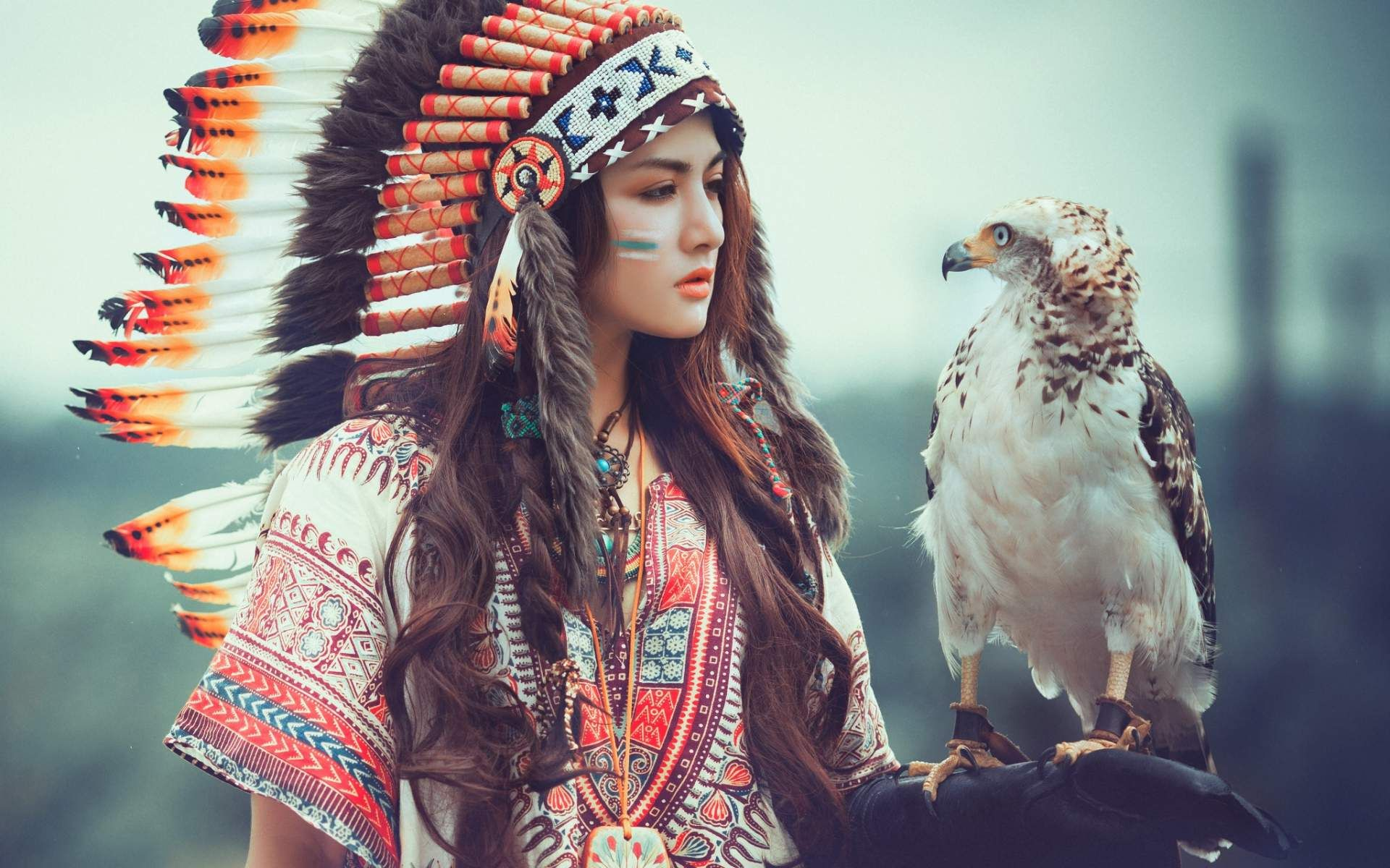 american indian girl hd wallpaper for desktop and mobile in high
