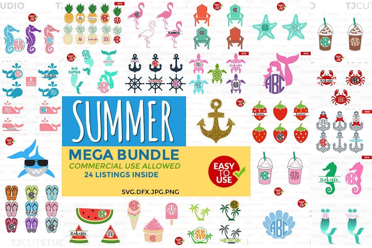 Summer Bundle Svg Svg Bundle Summer Svg Files For Silhouette Cameo Or Cricut Commercial Personal Use With Images Silhouette Cameo Svg Files For Cricut Cricut