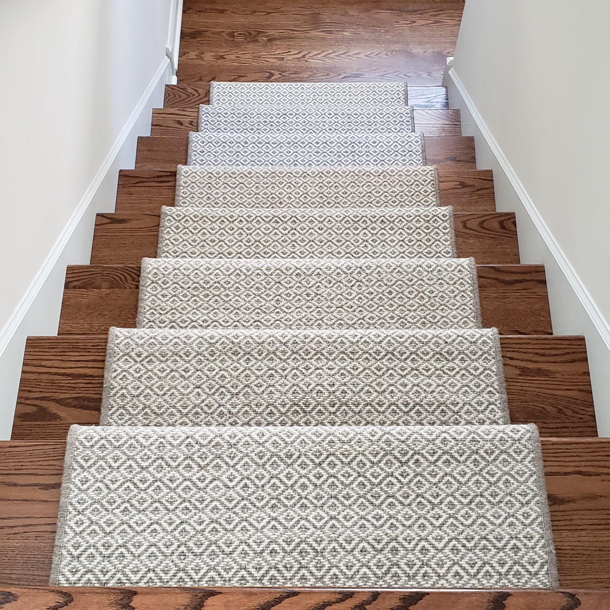 Padded Wool Carpet Stair Treads Breckenridge Grey Medium Etsy | Stair Tread Carpet Tiles | Treads Lowes | Slip Resistant | Non Slip | Tread Covers | Walmart