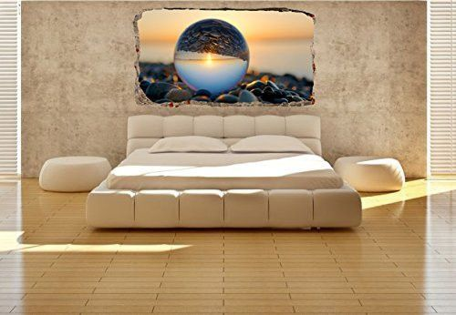 Startonight 3d Mural Wall Art Moon on the Water Dual View 47.24 x 86.61 Inch…