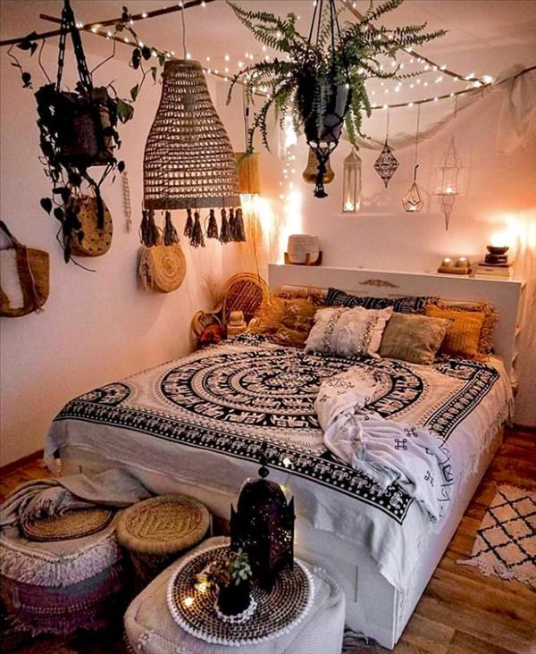 35 Brilliant Loft Bed Ideas For Small Rooms In A Apartment Latest Fashion Trends For Woman In 2020 Bohemian Bedroom Design Bedroom Decor Aesthetic Bedroom