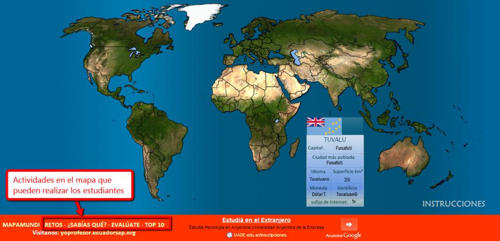 Mapa Mundo Educativo para estudiantes Mapa Mundo