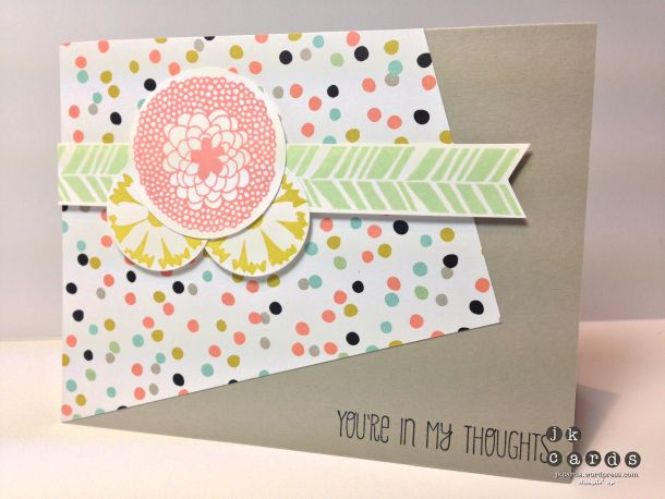 Stampin' Up!, Freshly Made Sketches 119, A Dozen Thoughts, Petal Parade**, Sweet Sorbet DSP**, 1 1/4 Circle Punch, 1 3/4 Circle Punch, **2014 Sale-A-Bration Catalog (January 28 to March 31, 2014)