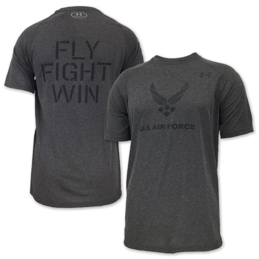 Air force under armour fly fight win tech tshirt