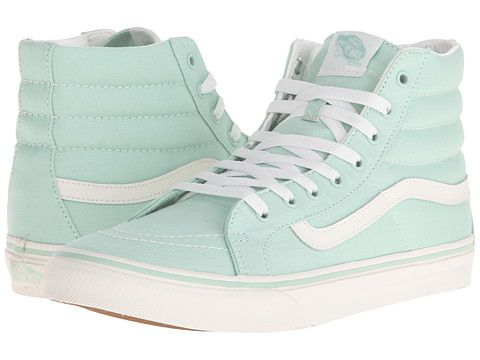 Sk8 hi slim gossamer green blanc de blanc       Vans       Shoes