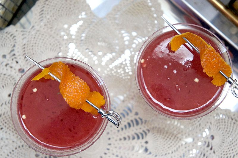 The Bite & Sting | Forever Young Adult | A spicy blood orange cocktail, inspired by Marie Rutkoski's The Winner's Trilogy.