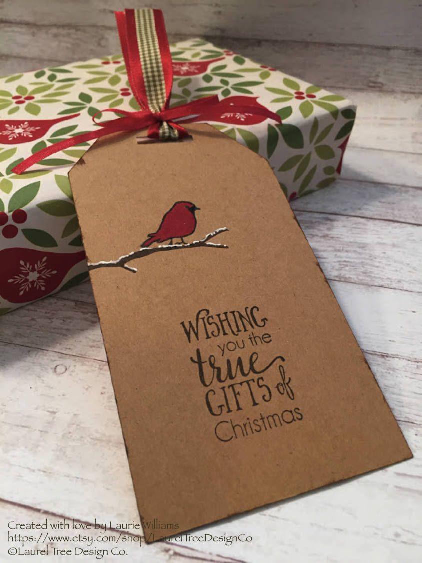 Large Gift Tag Set (2 tags) - FREE SHIPPING, Christmas Gift Tag ...