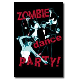 Zombie dance PARTY! : #poster #art