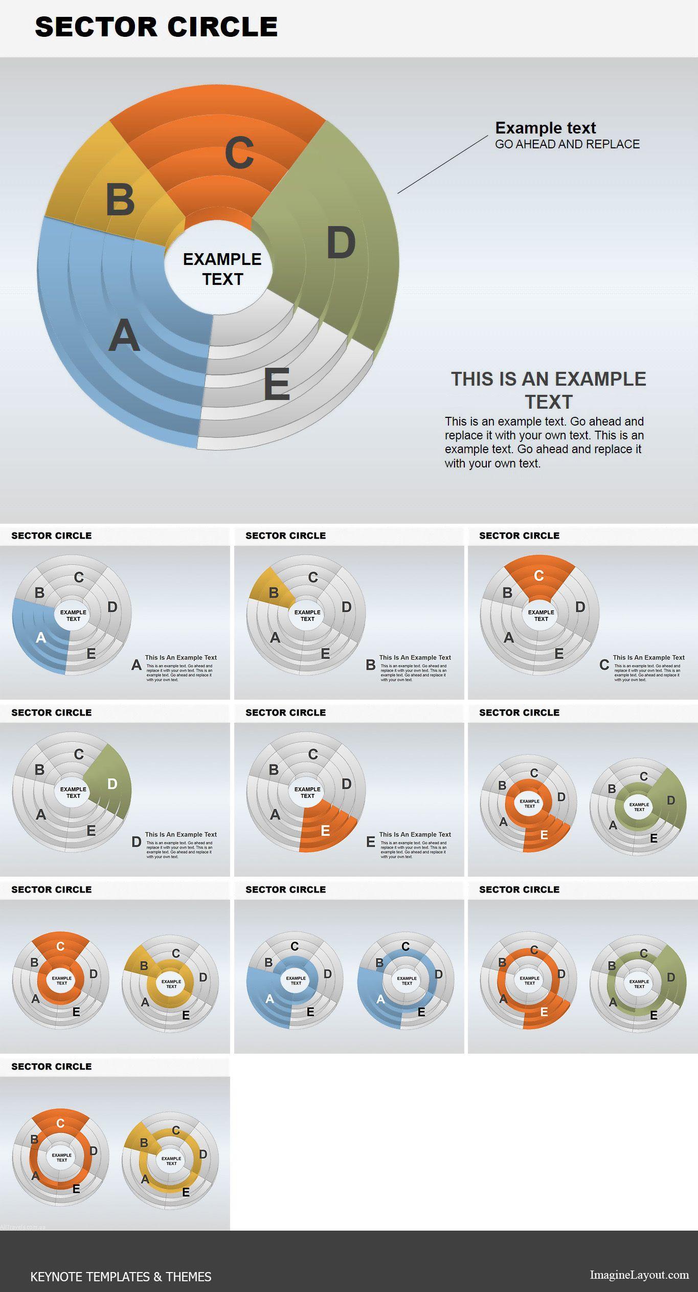 Sector Circle Keynote Charts Keynote Charts Powerpoint