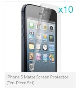 iPhone 5 High Quality, Matte Screen Protector Ten Pieces Set
