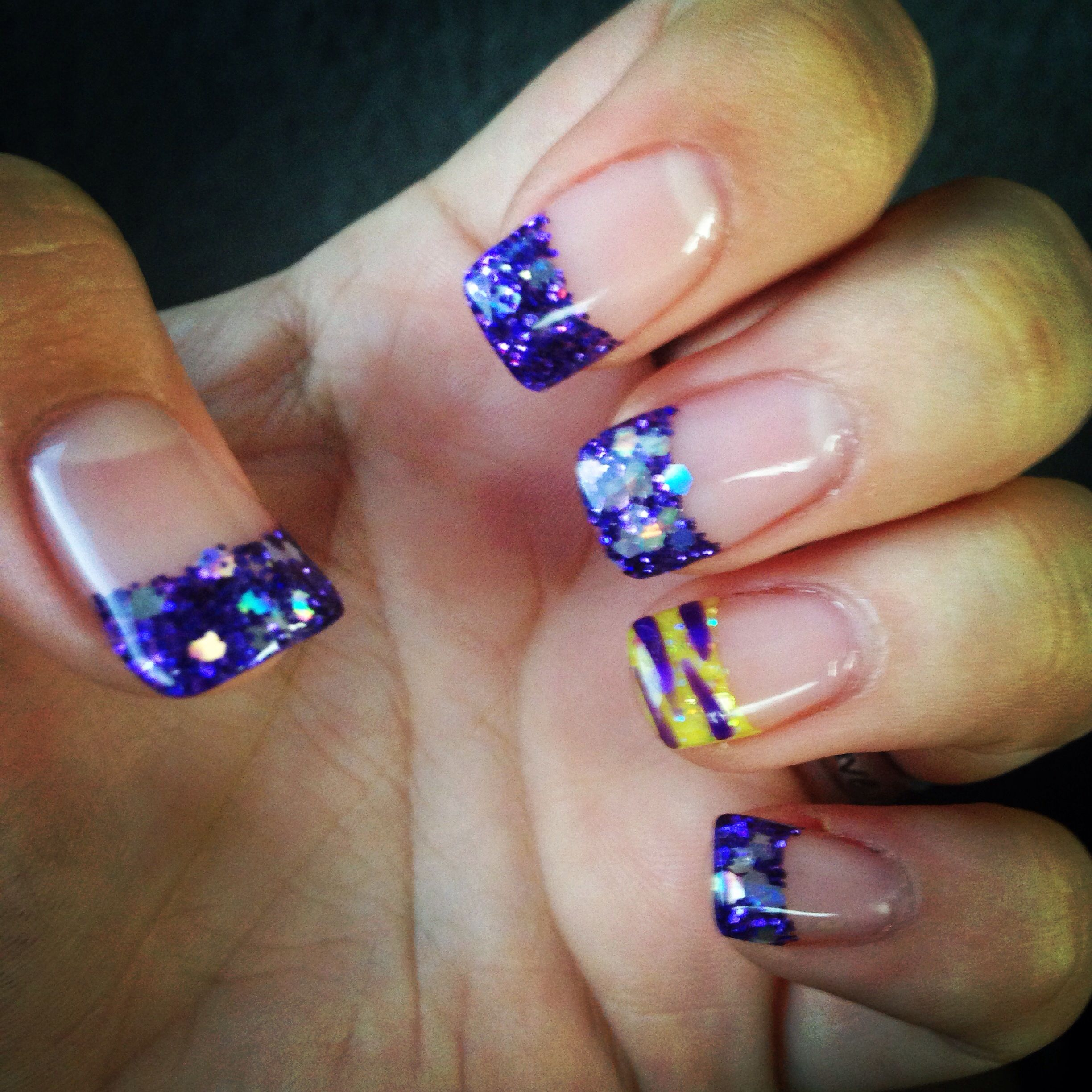 My super cute LSU nails!:) | Nail Designs | Pinterest | Hair makeup ...