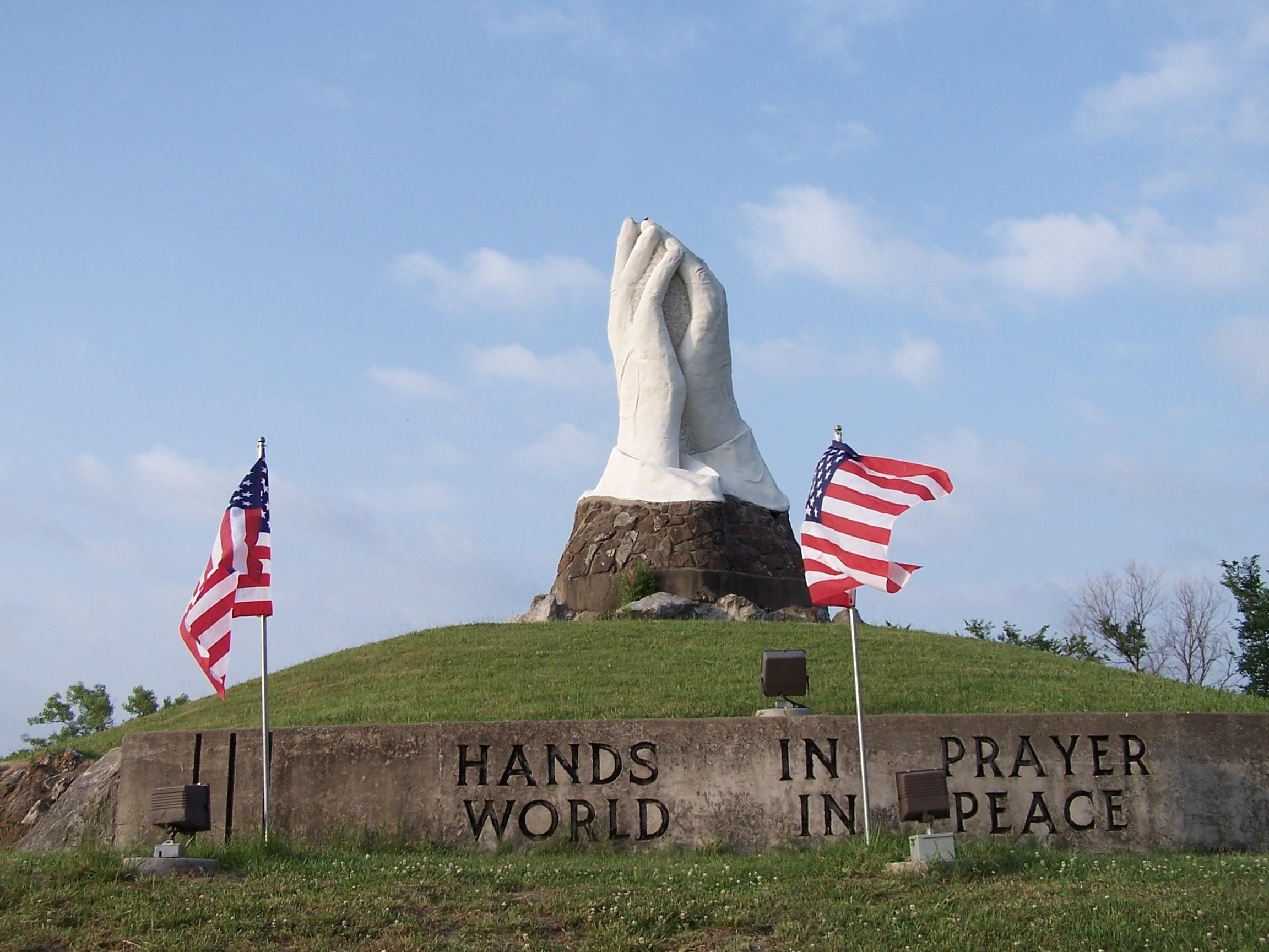 """HANDS IN PRAYER WORLD IN PEACE"" THIS WAS MADE BY JACK"