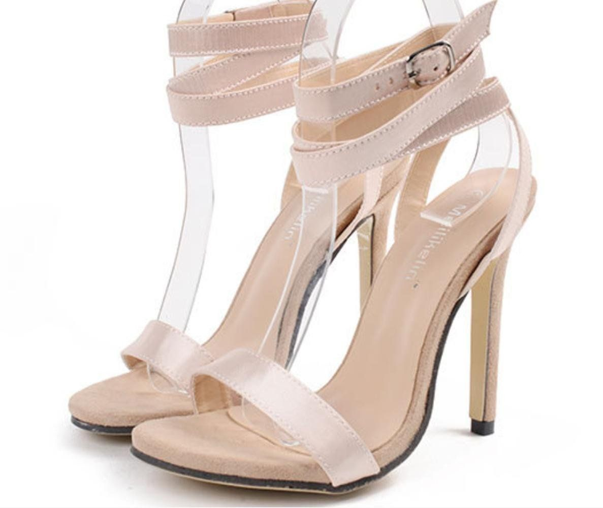 214f737456cee CSDM Women Stiletto Heel Fashion High Heels Sandals Silk Belt Buckle Simple  Shoes *** Continue to the product at the image link. (This is an affiliate  link) ...