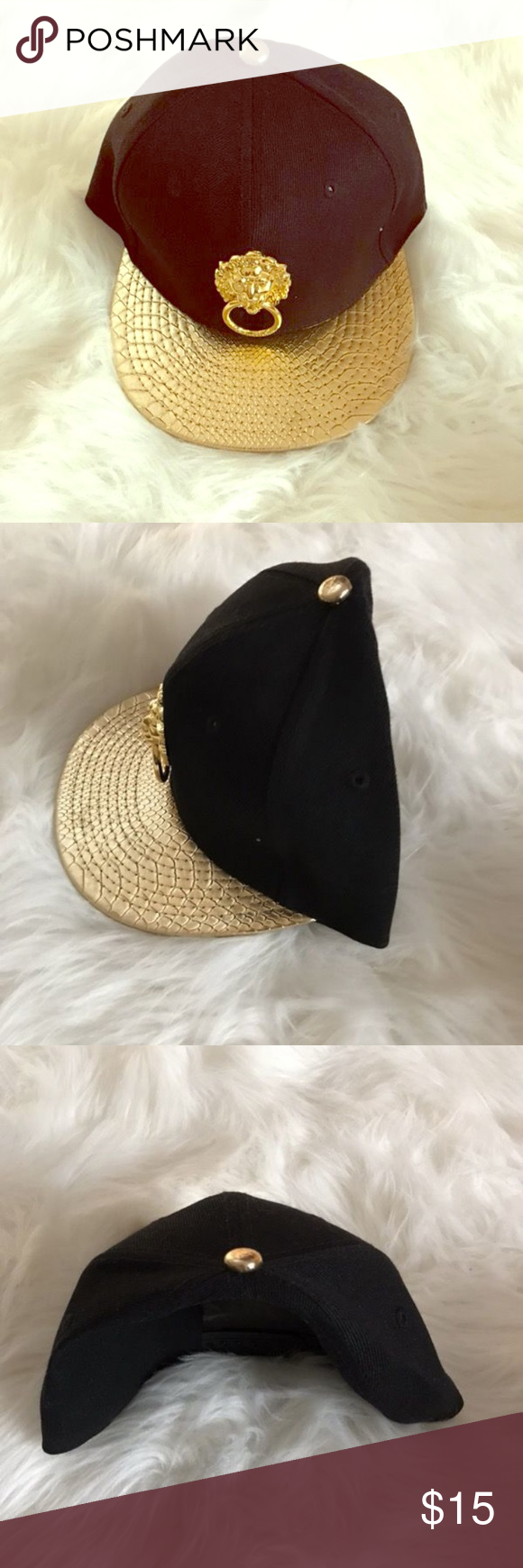 Black And Gold Hat Gold Hats Women Accessories Hats Unisex Hat