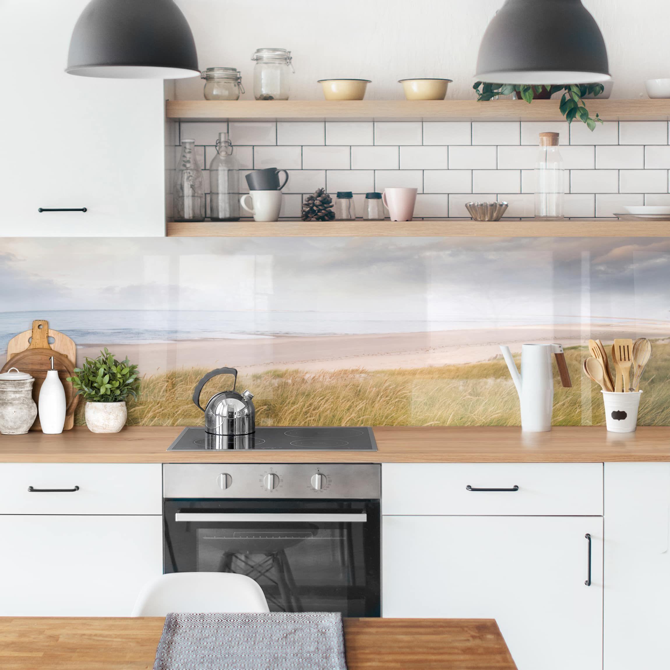 Kuchenruckwand Dunentraum In 2020 Kuchenruckwand Kuchenprodukte Fliesenspiegel Kuche