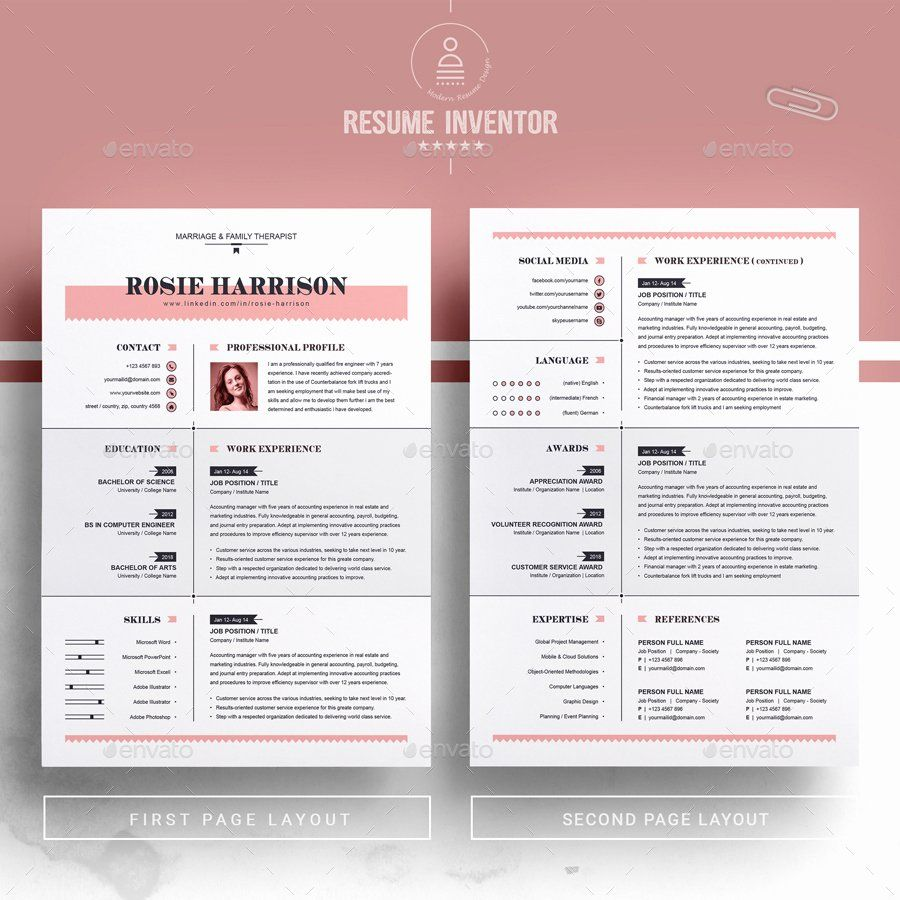 Apple pages resume template inspirational modern resume ms