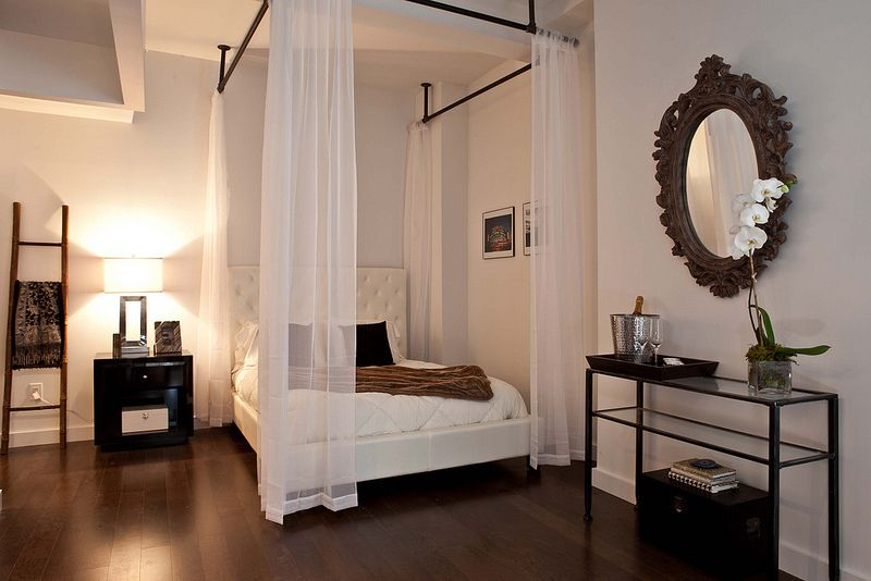 Easy canopy bed for rental studio. & Easy canopy bed for rental studio. | STUDIO APARTMENT | Pinterest ...