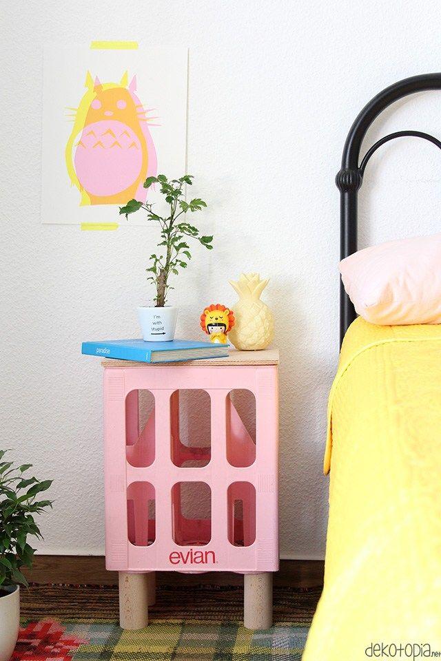 sommernachtstraum nachttisch aus getr nkekiste art diys pinterest nachttisch tisch und. Black Bedroom Furniture Sets. Home Design Ideas