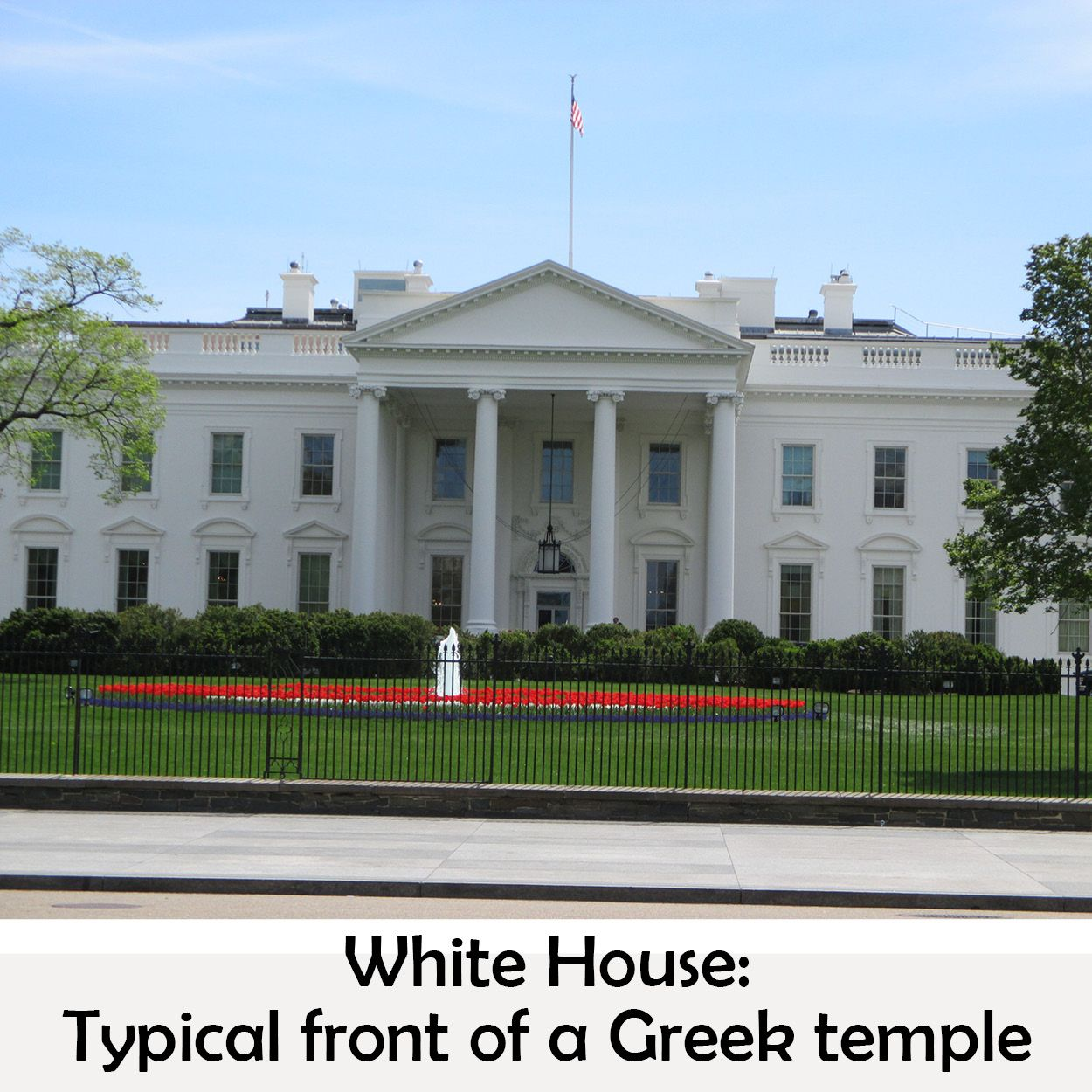 Front Of Greek Temple White House Wallstreet Stock Exchange Greek Temple White House Latin Quotes