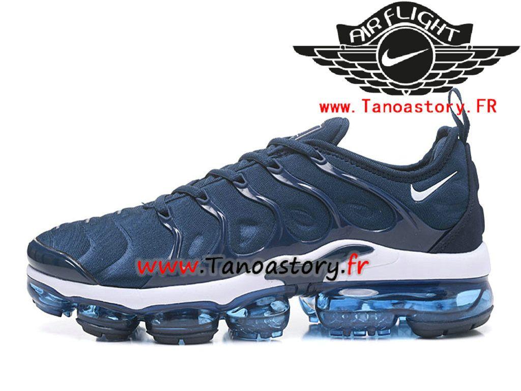 half off e1b8d 0b28b Chaussures Homme Nike Air VaporMax Plus 2018 AO4550-ID3 Nike Prix Pas Cher  Bleu Blanc