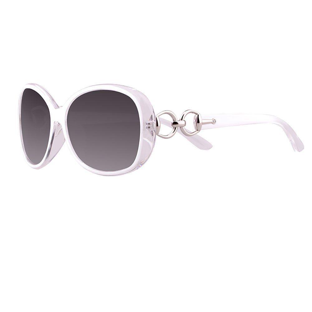 3e7c7ca1afcccc Lunettes de soleil WSSF femmes lunettes polarisées UV400 protection lunettes  de conduite femme ronde visage myopie (Couleur   Blanc)