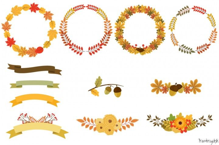 Autumn Wreath Drawing