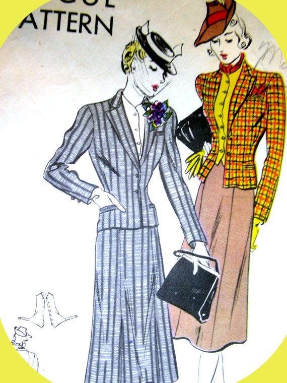 1930s VOGUE Pattern 8300  Sophisticated Ladies van anne8865 op Etsy