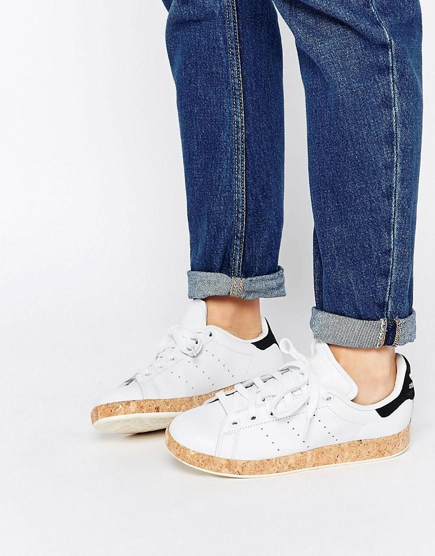 100% authentic 55c31 2614b SO STINKIN CUTE Adidas   adidas Originals Stan Smith Lux With Cork Sole  Sneakers at ASOS