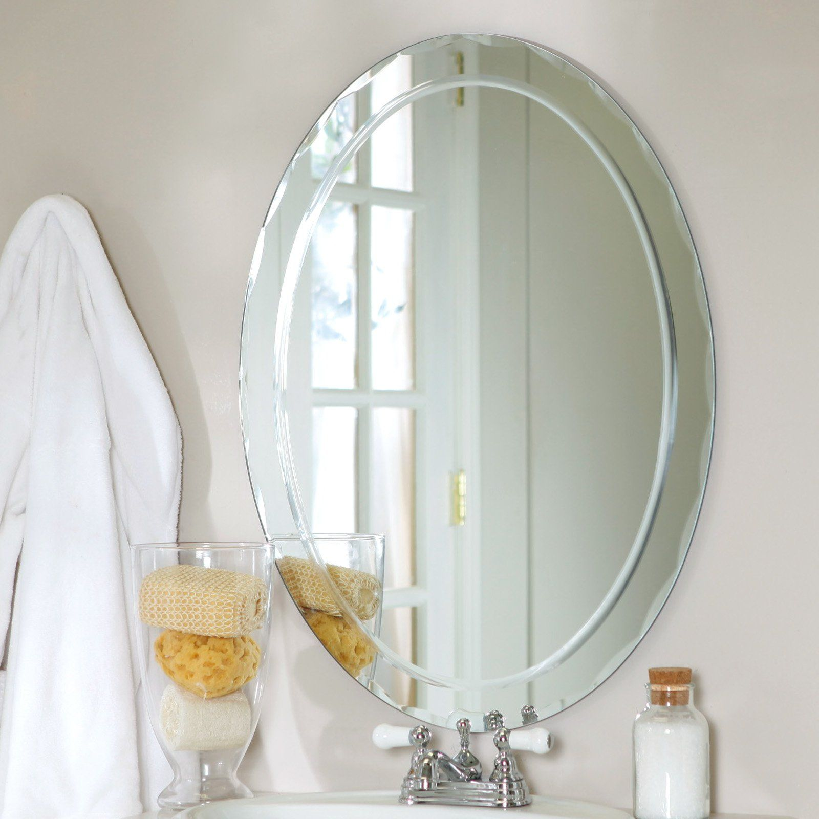 Frameless Aldo Wall Mirror   23.5W X 31.5H In.   Wall Mirrors At Hayneedle
