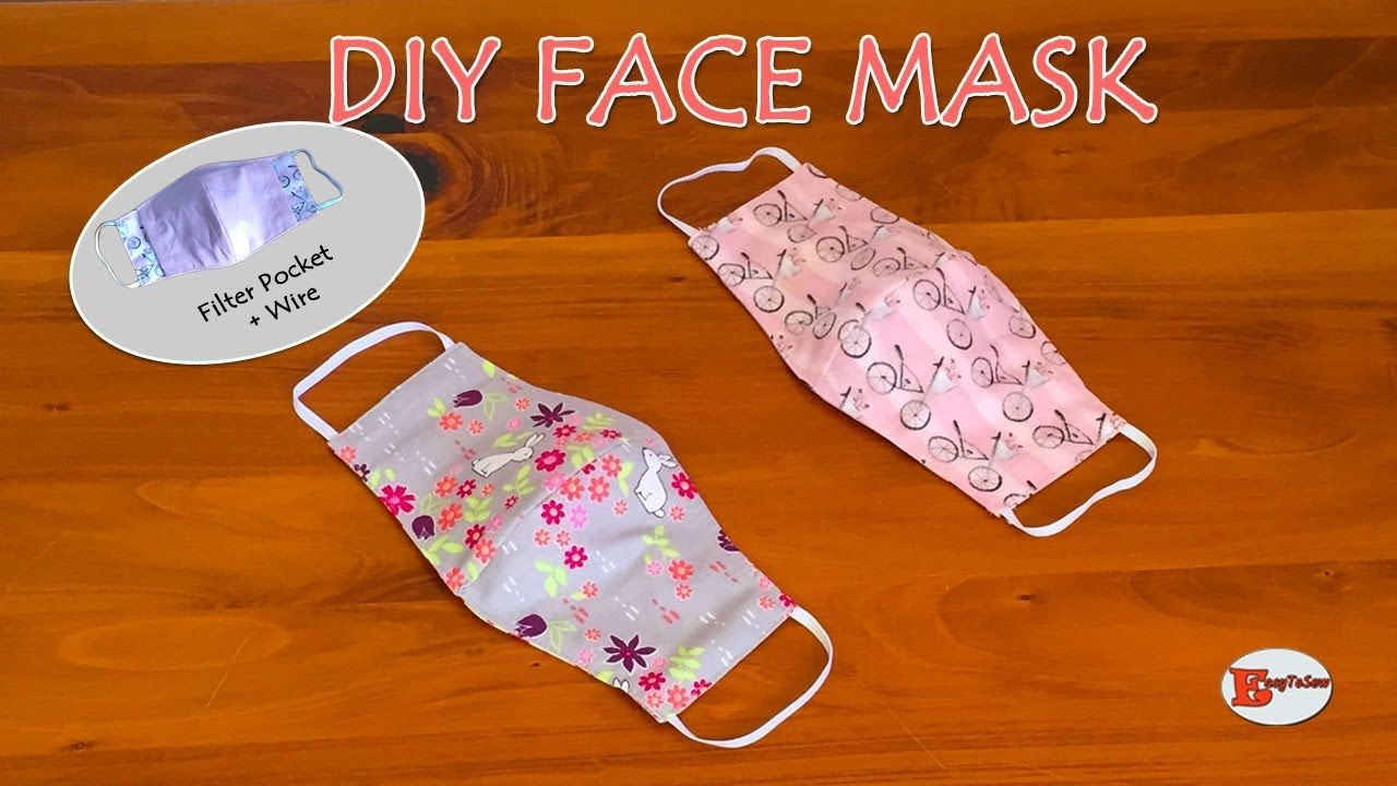How To Make Face Mask At Home Diy Face Mask With Filter Pocket