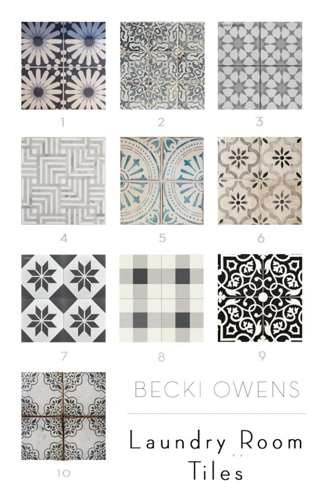 My favorite laundry room tiles becki owens tile and for Laundry room floor tile