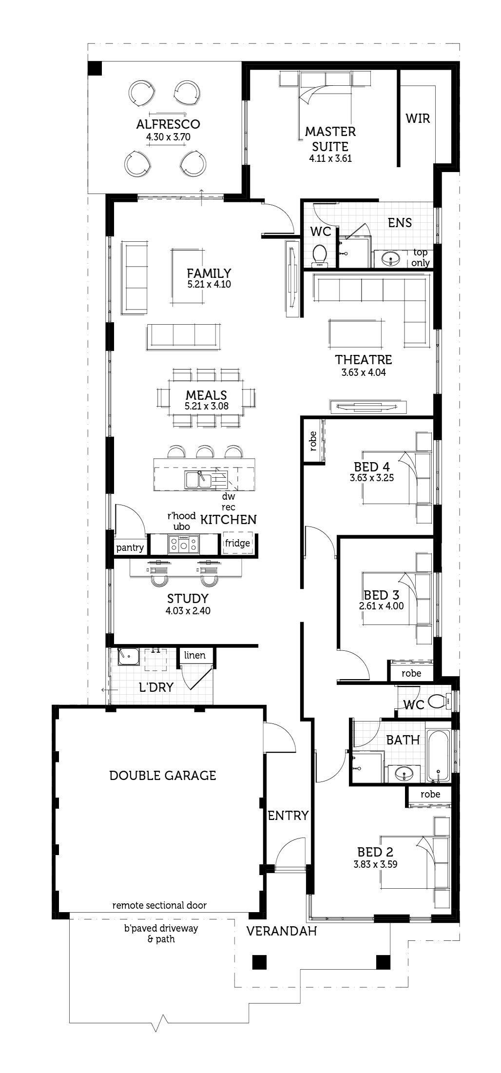 The Herald Left Hand Garage Idesign Floor Plans 4 Bedroom House Plans Garage Door Makeover