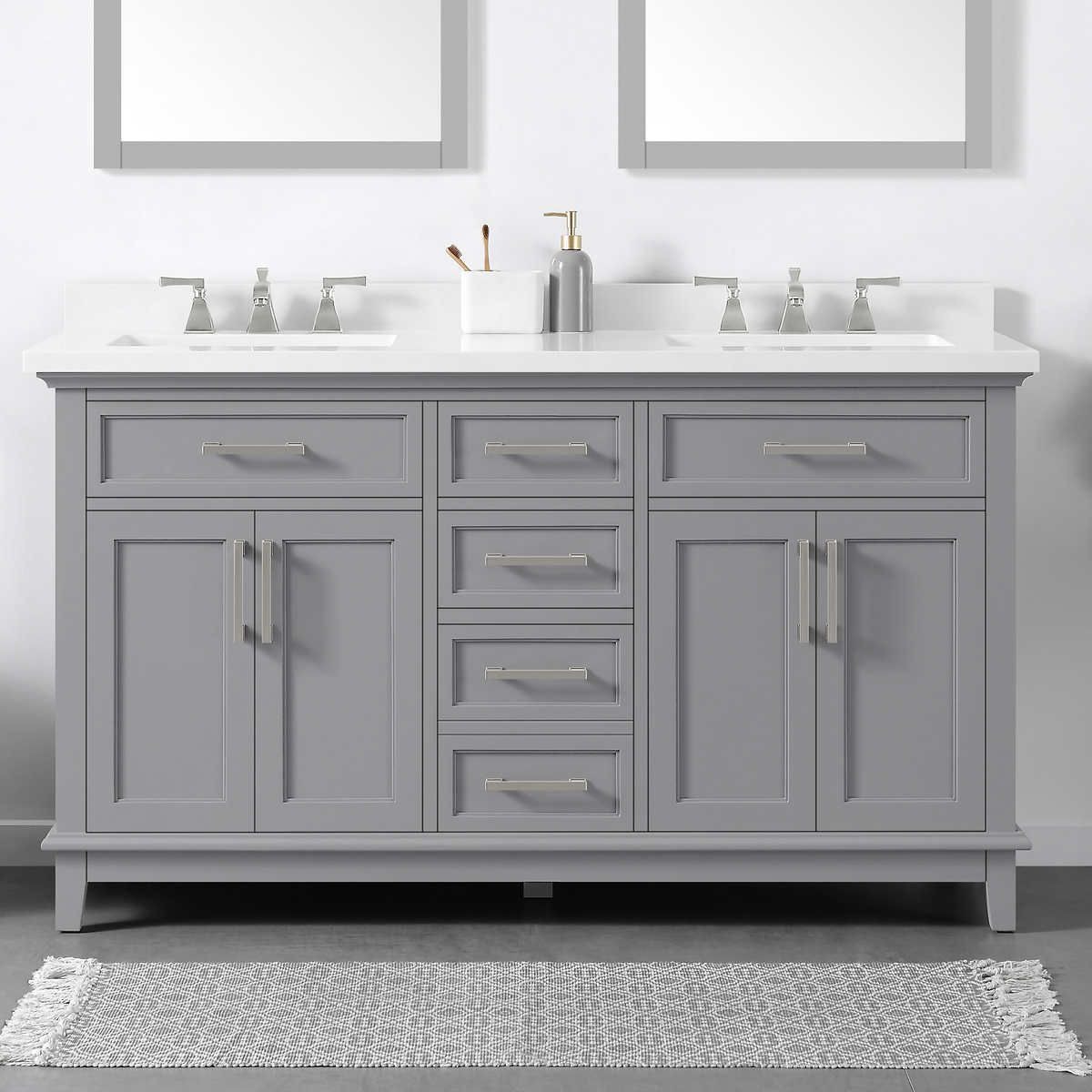 21++ Ready assembled white bathroom cabinets custom