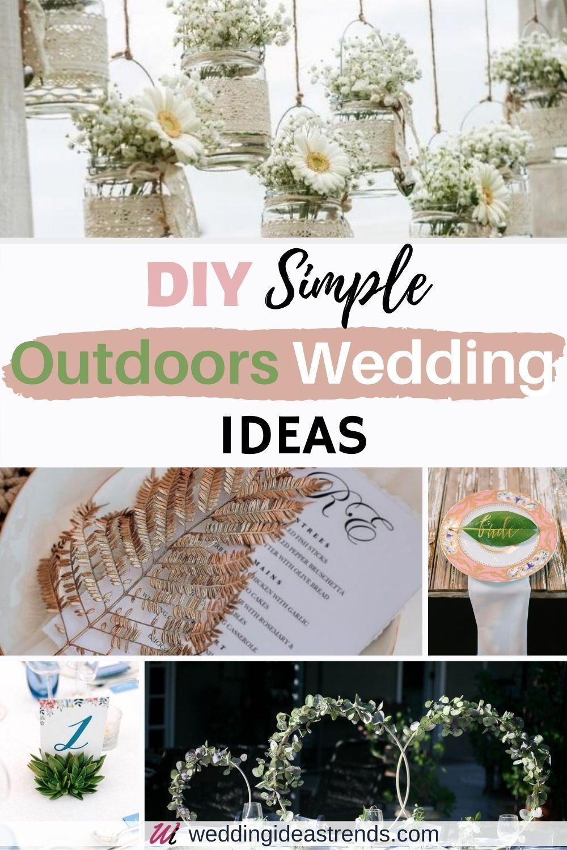 DIY Simple Outdoor Wedding Ideas – Wedding Decorations with Cheap Household  Items | Diy backyard wedding, Backyard wedding decorations, Backyard wedding