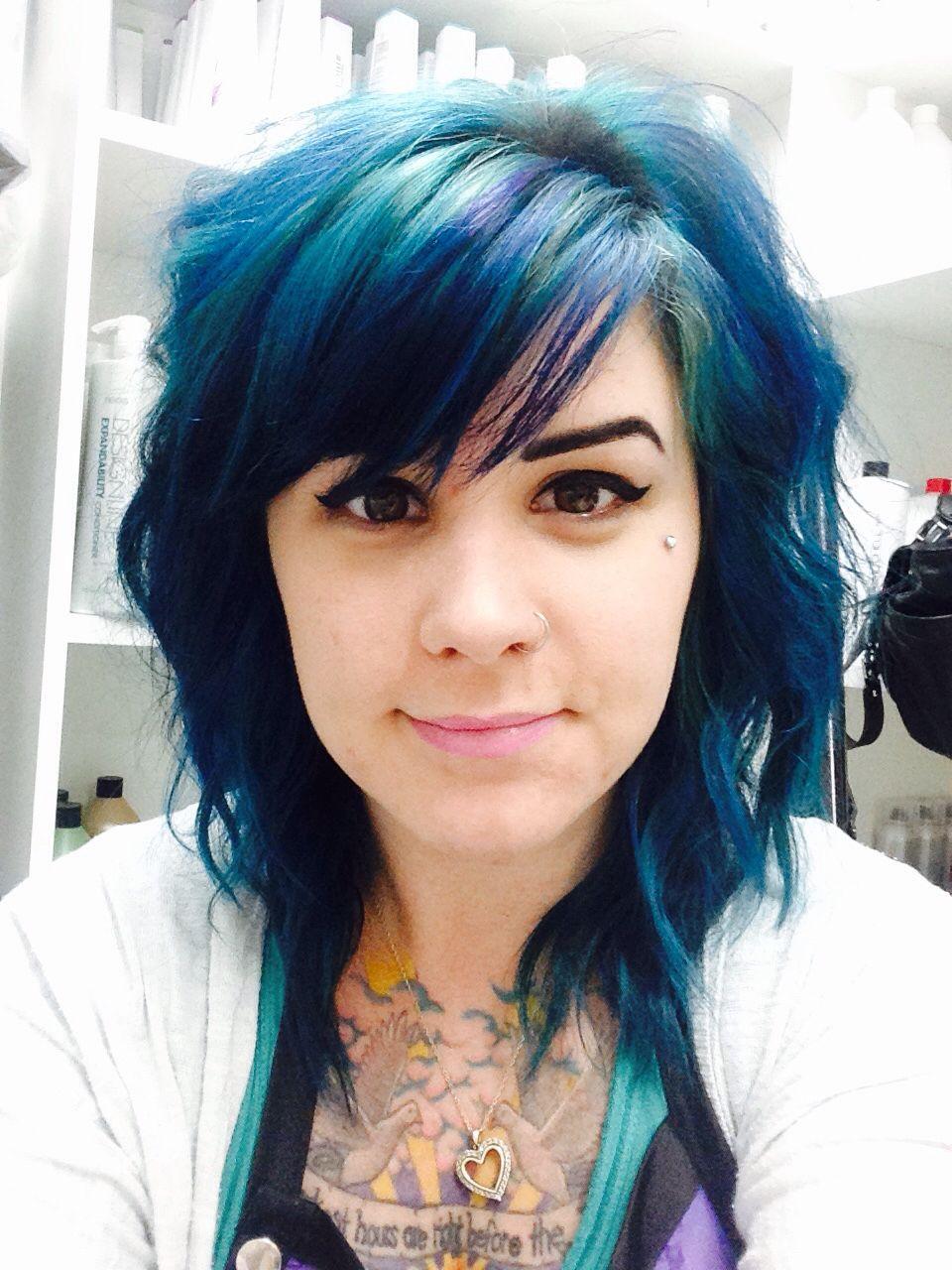 Pravana teal blue hair that i did on myself fashion pravana teal blue hair that i did on myself solutioingenieria Images