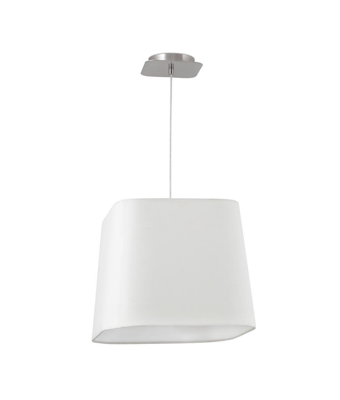 Lámpara colgante níquel y blanco SWEET