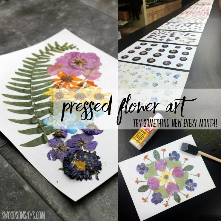 Pressing Flowers & Dried Flower Art – Probieren Sie jeden Monat etwas Neues aus