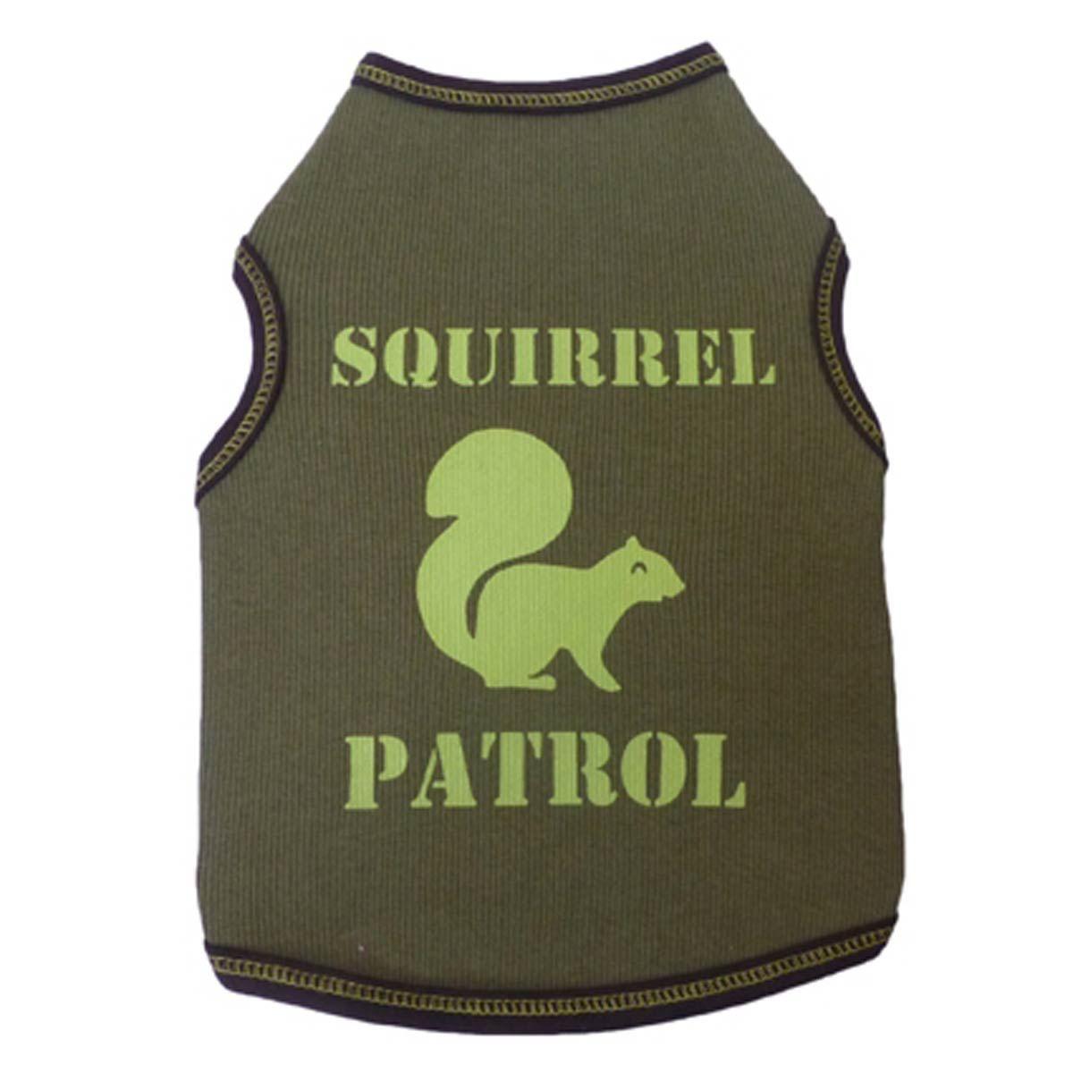 Squirrel Patrol Dog Tank Green Squirrel Dog Shirt Dogs