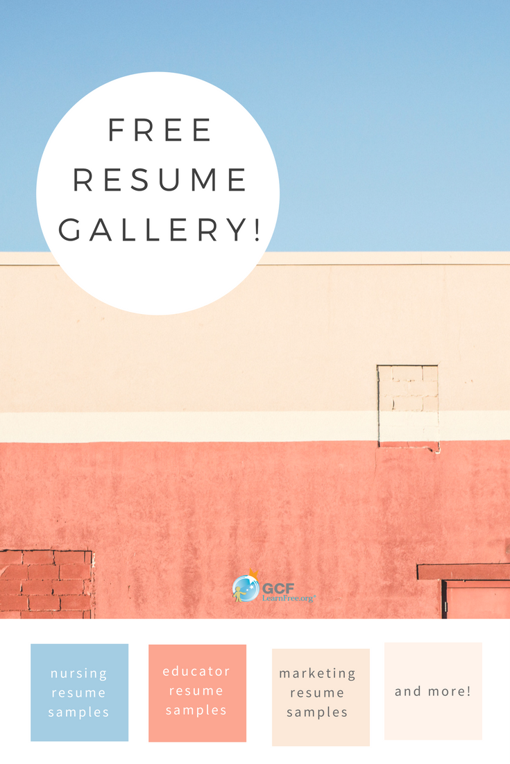did you know we have a resume gallery in our resume writing tutorial