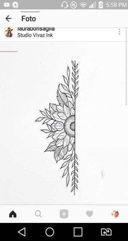 22 New Ideas tattoo sunflower mandala tat
