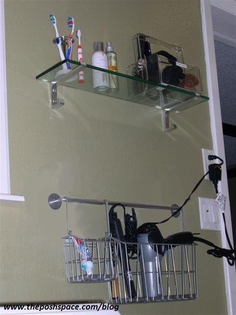 Marvelous Hair Dryer Storage Basket Hanging From Towel Rod!! Doing This Weekend In My  Bathroom