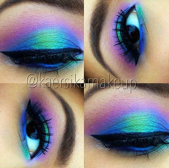 COLOR RUN- Mineral Eyeshadow and Eyeliner Makeup Look- All Natural, Vegan Friendly- Gift Set for yo